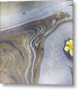 Plumeria In Oil Slick- Uss Arizona Memorial Shipwreck Site Metal Print