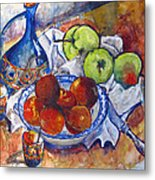Plums Apples Metal Print
