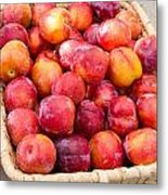 Plums In A Basket Metal Print