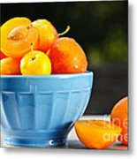 Plums In Bowl Metal Print
