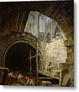 Plundering The Royal Vaults At St. Denis In October 1793 Oil On Canvas Metal Print