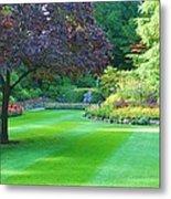 Plush Landscape Bucshart Gardens Metal Print