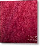 Plush Red Texture Metal Print