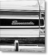 Plymouth Barracuda Taillight Emblem -0711bw Metal Print