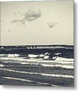 Plymouth Cliffs Metal Print
