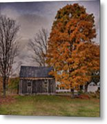Plymouth Notch Barn In The Fall Metal Print