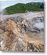 Poas Volcano Crater Metal Print
