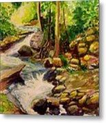 Pocantica River Rapids Metal Print
