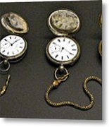 Pocket Watches Metal Print