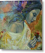 Poem At Twilight Metal Print by Dorina  Costras