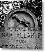 Poe's Original Burial Place Metal Print