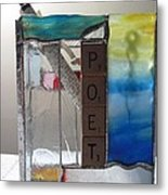 Poet Windowsill Box Metal Print