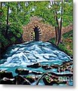 Poinsett Bridge I, Historic Landmark In Upstate Of South Carolina Metal Print