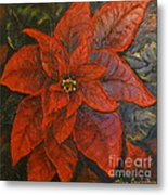 Poinsettia/ Christmass Flower Metal Print by Elena  Constantinescu