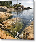 Point Atkinson Lighthouse In Vancouver Bc Vertical Metal Print