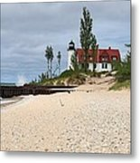 Point Betsie Lighthouse Classic View Metal Print