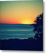 Malibu Sunset Metal Print