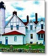 Point Iroquois Lighthouse Metal Print