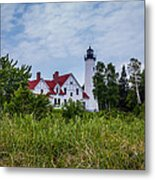 Point Iroquois Lighthouse Metal Print