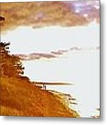 Point Iroquois Pano Sunset Metal Print
