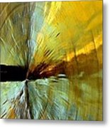 Point Of Impact In Copper And Green2 Metal Print
