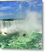 Point Of Land Cut In Two.. Metal Print