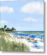 Point Of Rocks On Siesta Key Metal Print by Shawn McLoughlin