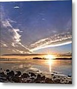 Point Of The Sunset Metal Print