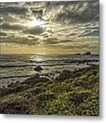 Point Piedras Blancas Sunset 1 Metal Print