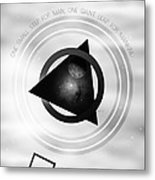 Point To The Moon Metal Print