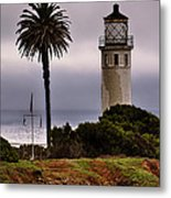 Point Vincente Lighthouse Metal Print