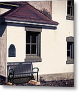 Point Wilson Lighthouse Bench Metal Print