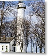 Pointe Aux Barques  Lighthouse Metal Print