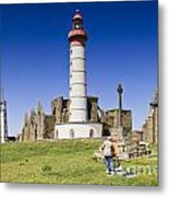 Pointe Saint Mathieu Brittany France Metal Print