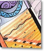 Points Lines And Circles Metal Print