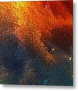 Points Of Light Abstract Art By Sharon Cummings Metal Print