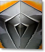 Pointy End Reflection Metal Print