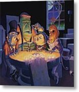 Poker Buddies Metal Print