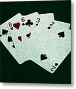 Poker Hands - High Card 4 Metal Print