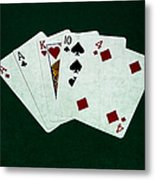 Poker Hands - One Pair 1 Metal Print