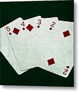 Poker Hands - Straight Flush 4 Metal Print
