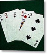 Poker Hands - Three Of A Kind 1 Metal Print