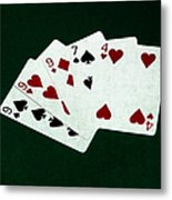 Poker Hands - Three Of A Kind 2 Metal Print