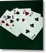 Poker Hands - Two Pair 4 Metal Print