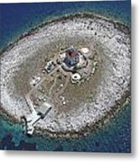 Pokonji Dol Lighthouse From Air Metal Print