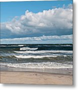 Poland, View Of Baltic Sea In Autumn At Metal Print
