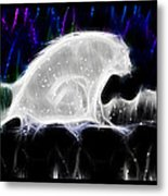Polar And Snow Metal Print