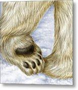Polar Bear Paw Metal Print