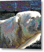 Polar Bear With Enameled Effect Metal Print