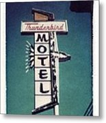 Polaroid Transfer Motel Metal Print